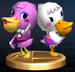 Pelly & Phyllis trophy from Super Smash Bros. Brawl.