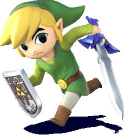 Toon Link as he appears in Super Smash Bros. 4.