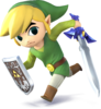 Toon Link as he appears in Super Smash Bros. 4.