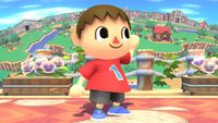 Villager's second idle pose in Super Smash Bros. for Wii U.