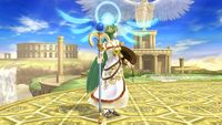 Palutena's first idle pose in Super Smash Bros. for Wii U.