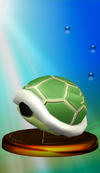 Green Shell trophy from Super Smash Bros. Melee.