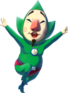 Official artwork of Tingle from The Legend of Zelda: The Wind Waker HD.