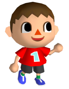 A male Villager from the Animal Crossing games.