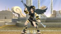 Dark Pit's first idle pose in Super Smash Bros. for Wii U.