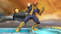 Captain Falcon's first idle pose in Super Smash Bros. for Wii U.