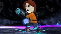 Mii Gunner's second idle pose in Super Smash Bros. for Wii U.