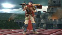 Ike's first idle pose in Super Smash Bros. for Wii U.