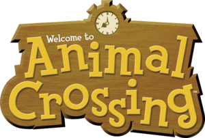 Logo on box of Animal Crossing for Nintendo GameCube. (This game is sometimes called Animal Crossing | Population: Growing! or Animal Crossing 1 to distinguish it from other games in the AC series).