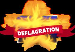 Logo for the tournament Deflagration