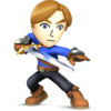 Source: Spriters Resource. Mii Swordfighter it appears in Super Smash Bros. 4.