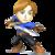 Source: Spriters Resource. Mii Swordfighter it appears in Super Smash Bros. 4.