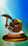 Mr. Resetti trophy from Super Smash Bros. Melee.