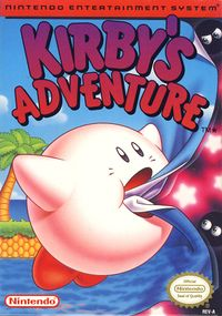Box art of Kirby's Adventure.