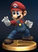 Mario trophy from Super Smash Bros. Brawl.
