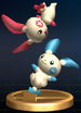 Plusle & Minun trophy from Super Smash Bros. Brawl.
