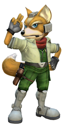 Artistic rendering of Fox's alternate costume in Project M, resembling his appearance in Melee.