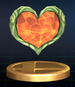 Heart Container trophy from Super Smash Bros. Brawl.