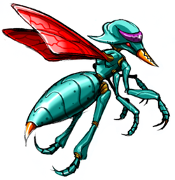 Concept art of a Kihunter from Metroid: Other M, ripped directly by The Spriters Resource.