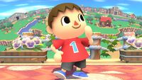 Villager's first idle pose in Super Smash Bros. for Wii U.