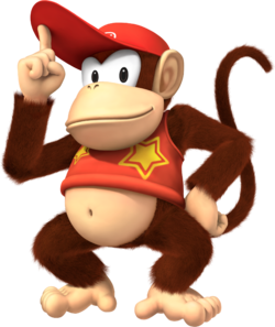 Diddy Kong artwork from Super Mario Party.