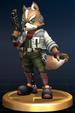 Fox trophy from Super Smash Bros. Brawl.