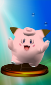 Clefairy trophy from Super Smash Bros. Melee.