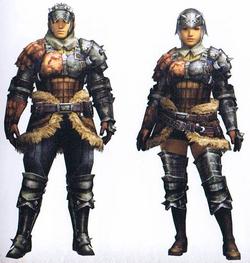 Monster Hunters wearing Hunter's Armor
