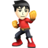 Source: Spriters Resource. Mii Brawler it appears in Super Smash Bros. 4.