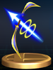 Palutena's Bow trophy from Super Smash Bros. Brawl.