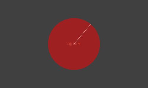 Hitbox visualization for Snake's weak Remote Missile explosion