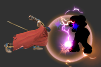 Paralyzing Counter in Super Smash Bros. for Wii U.