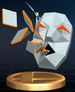 Andross trophy from Super Smash Bros. Brawl.