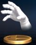 Master Hand trophy from Super Smash Bros. Brawl.
