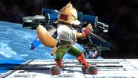 Fox's first idle pose in Super Smash Bros. for Wii U.