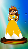 Princess Daisy trophy from Super Smash Bros. Melee.