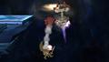 R.O.B. Down Aerial Meteor Smash Brawl.png
