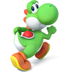 Yoshi as he appears in Super Smash Bros. 4.