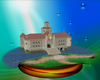 Princess Peach's Castle trophy from Super Smash Bros. Melee.