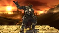 Ganondorf's first idle pose in Super Smash Bros. for Wii U.