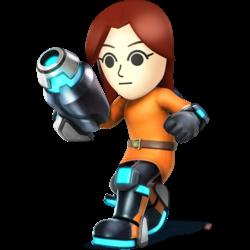 Source: Spriters Resource. Mii Gunner it appears in Super Smash Bros. 4.