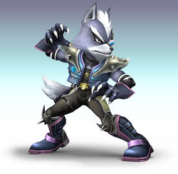 Official image of Wolf O'Donnell in Super Smash Bros. Brawl