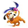 Duck Hunt as they appear in Super Smash Bros. 4.