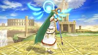 Palutena's second idle pose in Super Smash Bros. for Wii U.