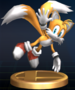Tails trophy from Super Smash Bros. Brawl.