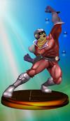 Captain Falcon trophy from Super Smash Bros. Melee.