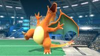 Charizard's first idle pose in Super Smash Bros. for Wii U.