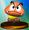 Goomba trophy from Super Smash Bros. Melee.