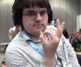 CaptAwesum after defeating Mr. ConCon at EVO 2016