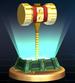 Golden Hammer trophy from Super Smash Bros. Brawl.